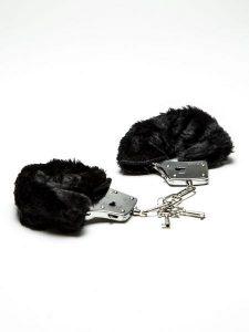 black fur handcuffs
