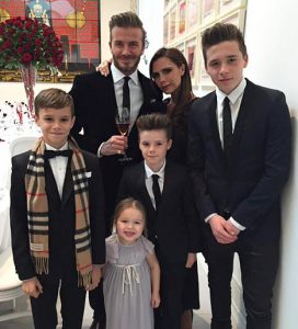 The Beckham's family