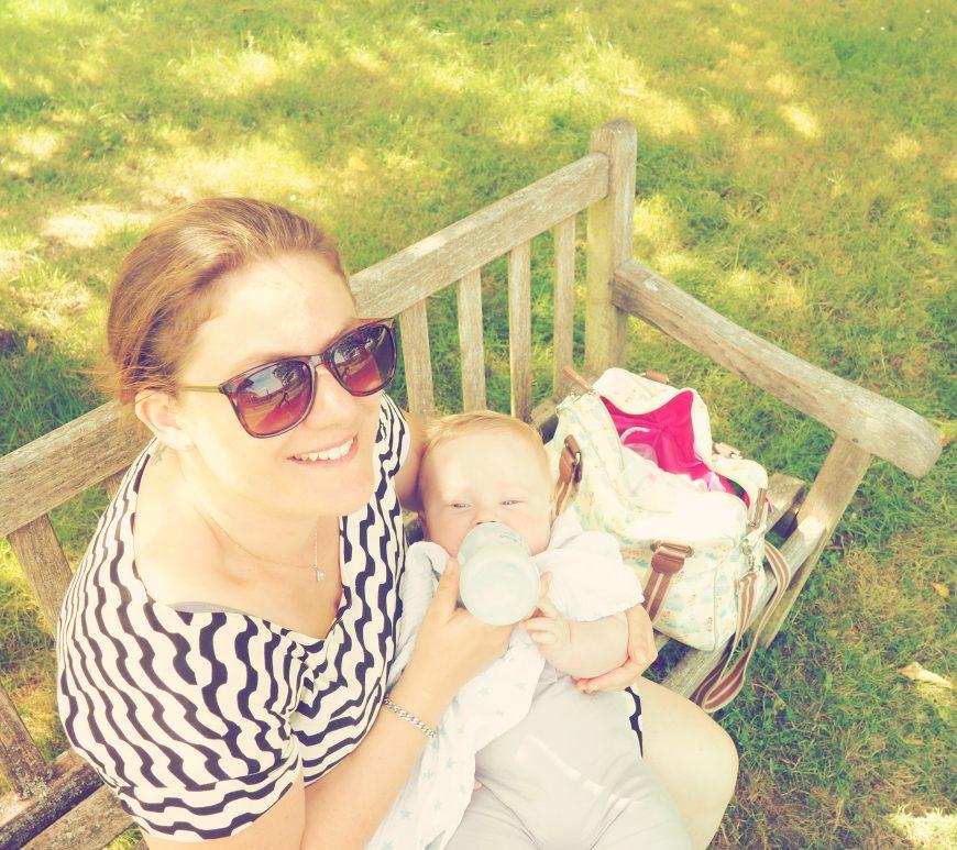 Borde Hill Garden feeding the baby