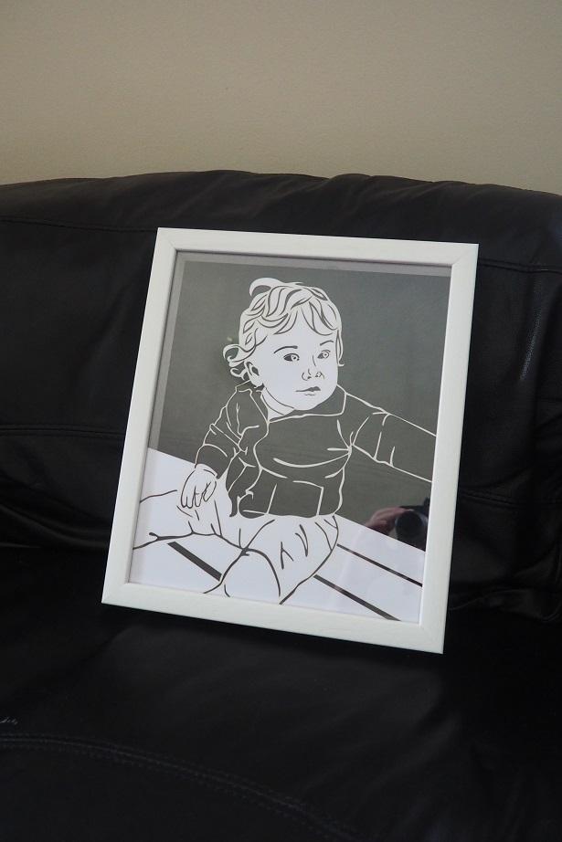 Twenty Fingers Personalised Papercut Review, home, décor, frame