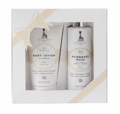Sophie La Girafe Baby Skincare Review, gift set, baby skincare, review