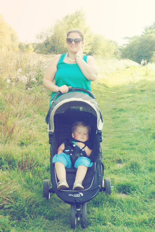 Obaku Watch Review, walk in the country, baby in buggy