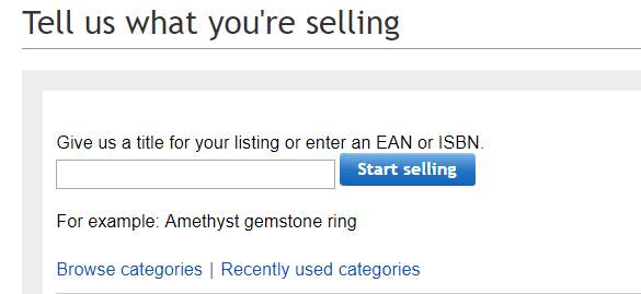 Selling on eBay is so easy, eBay listing, instructions