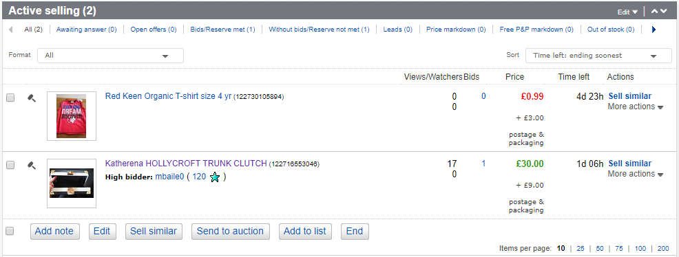 Selling on eBay is so easy, eBay listing, items for sale