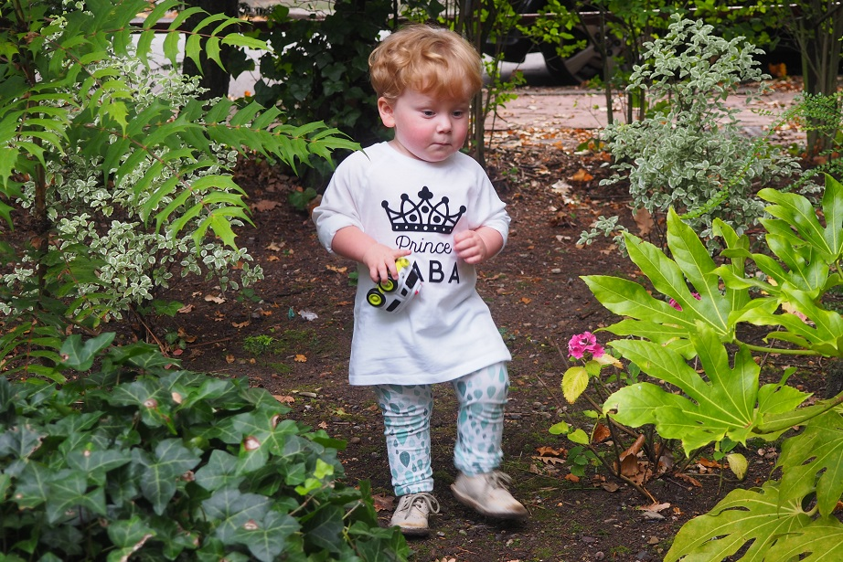 Baba Fashionista with Percy & Nell , baby in garden