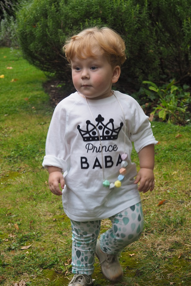 Baba Fashionista with Percy & Nell , baby in the garden, prince baba