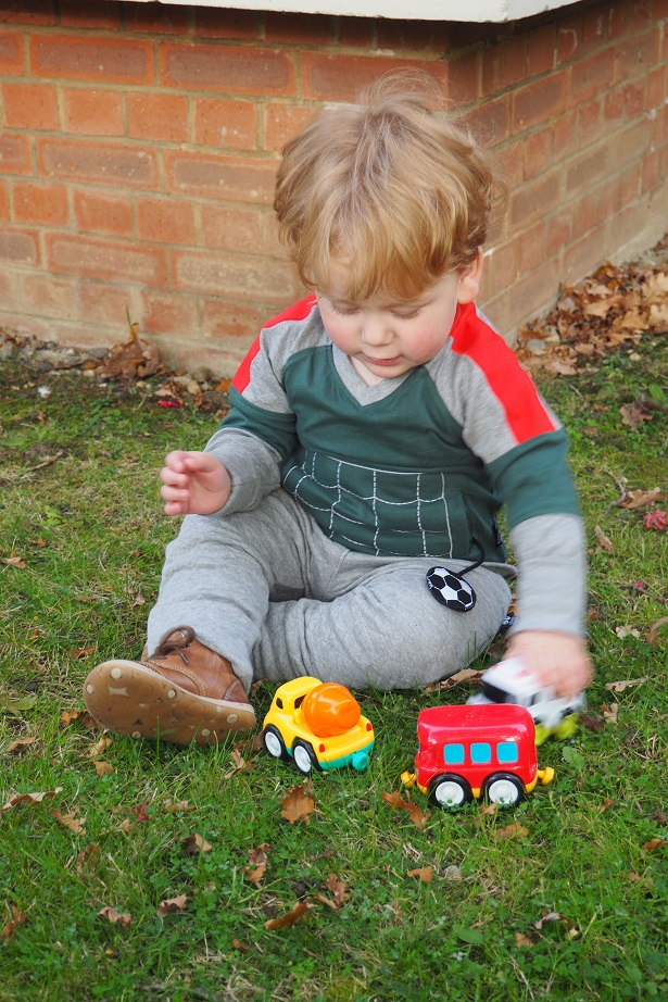 Baba Fashionista with UBANG, playing with cars, Danish brand