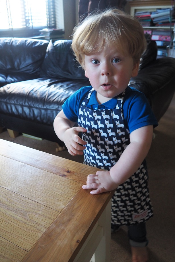 Baba Fashionista with My Mini Pinny , handmade aprons, review