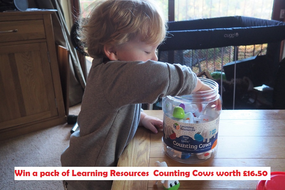 Learning Resources Counting Cows Review, toys' review, giveaway, counting