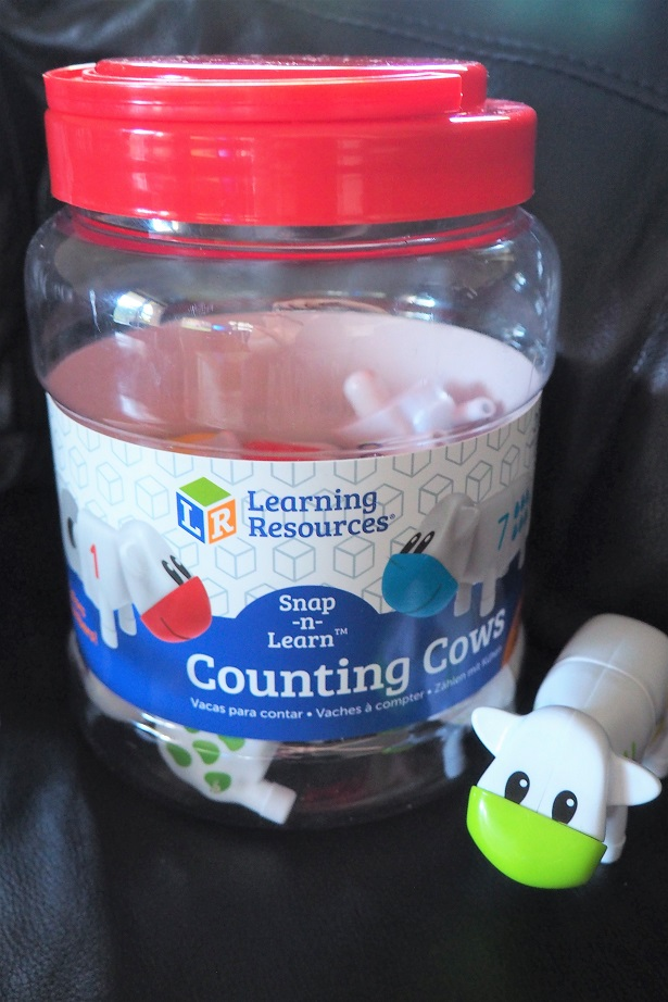 Learning Resources Counting Cows Review, toys' review, counting, giveaway