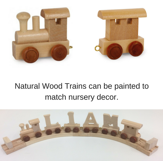 Win a Jack and Jill's Wooden Name Train, wooden toys, nursery decoration, christmas giveaway