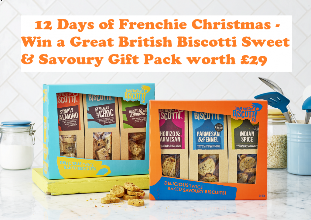 Win a Great British Biscotti Sweet & Savoury Gift Pack, snack, Christmas food, giveaway, Italy