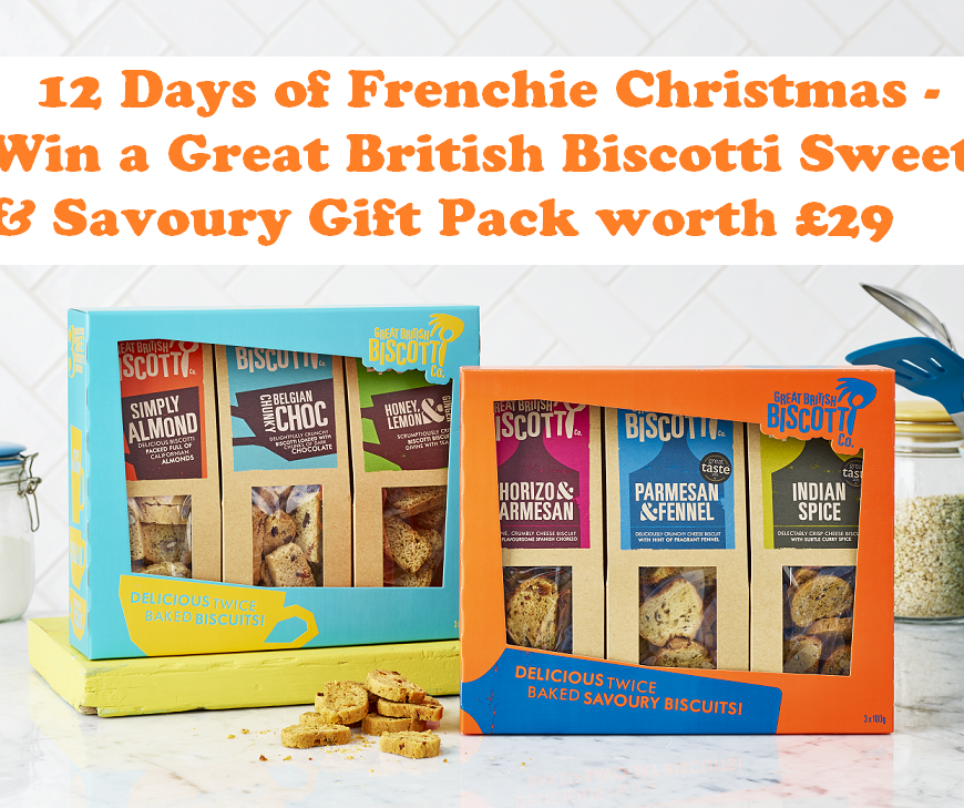 Win a Great British Biscotti Sweet & Savoury Gift Pack worth £29
