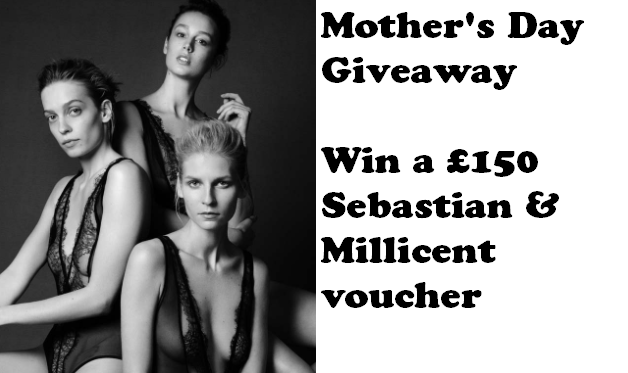 Win a £150 Sebastian & Millicent Voucher, designer lingerie, mother's day giveaway