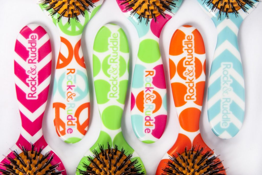 Win a Multicoloured Rock & Ruddle Brush, Natural Hair brush, Hair care, Blog Anniversary, The Frenchie Mummy