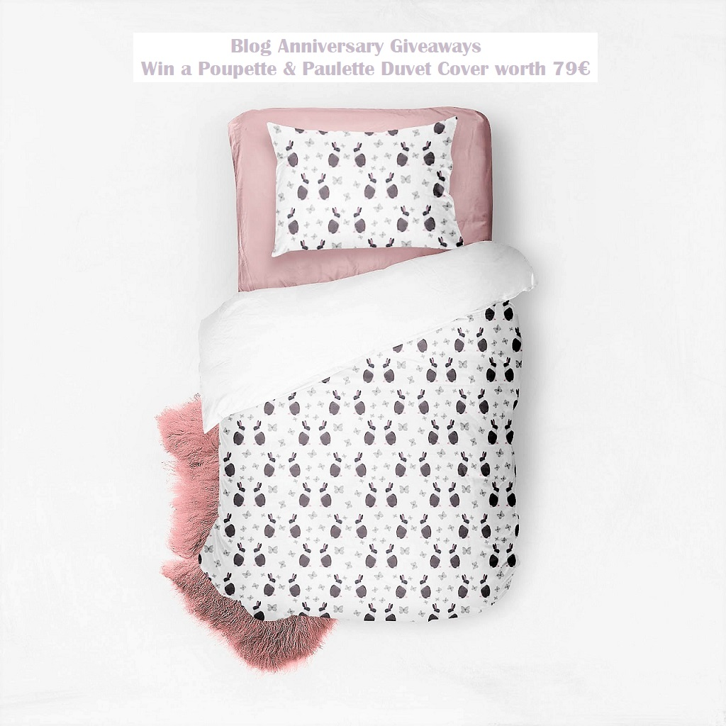Win a Poupette & Paulette Duvet Cover, Belgian Brand, Kids' Bedroom Items, Unique Designs, Rabbit Print, Blog Anniversary, The Frenchie Mummy
