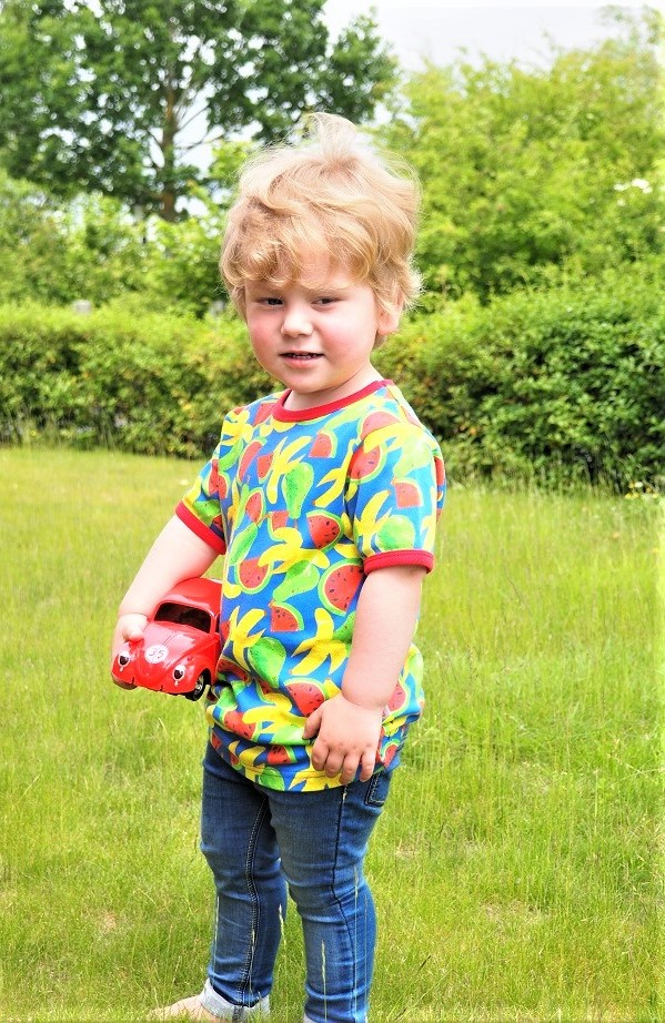 Baba Fashionista with the Bunting Tree SS18, Kids' Fashion, Organic Cotton Made, Fruit Top, Baba Fashionista, Fashion Review, The Frenchie Mummy