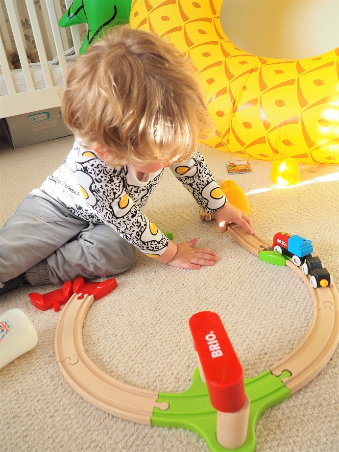 BRIO My First Railway Battery Operated Train Set Review, Wooden Toys, Toy Review, Train Set, Brio, The Frenchie Mummy