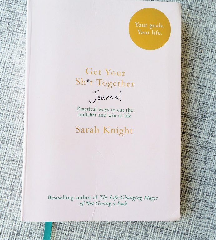 Get Your Sh*t Together Journal by Sarah Knight Review, self-help book, quercus, girl boss, giveaway, the Frenchie Mummy