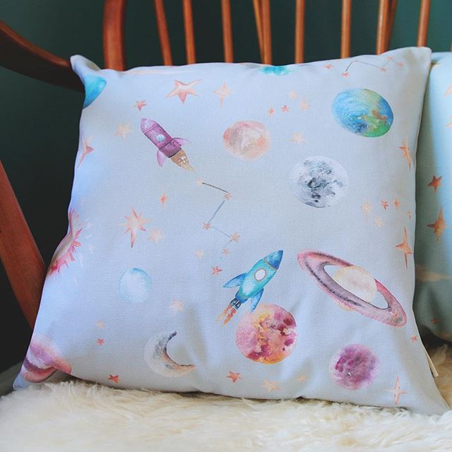 Katie Hipwell Cushion, Katie Hipwell, British textile designer, interior fabrics, Back to School Giveaway, Nursery, the Frenchie Mummy