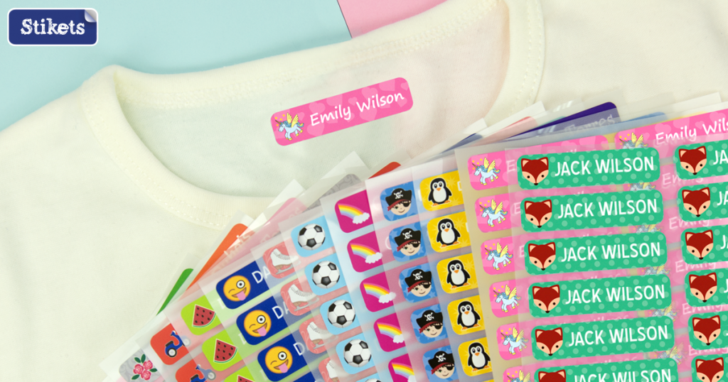 Basic Value Pack of Stikets Labels, name labels, Back to School, giveaway, the Frenchie Mummy, Stikets, personalised kids labels for school