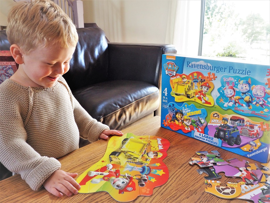 Paw Patrol Four Large Shaped Puzzles Review, Ravensburger, Toy Review, Paw Patrol, Puzzle, The Frenchie Mummy