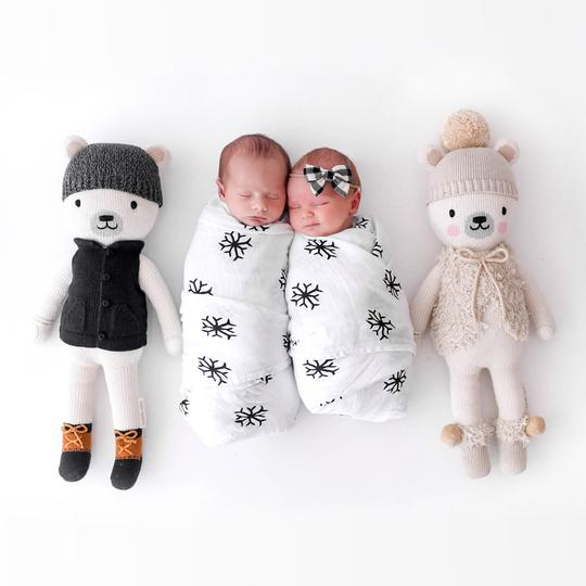 Cuddle + Kind Doll, Hand-Knitted Doll, Sustainable Brand, Christmas Giveaway, Children in Need, the Frenchie Mummy