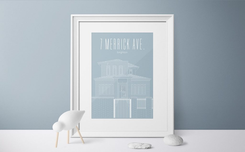 3000Lines Print, Print of your House, Limited Edition Prints, Personalised House Print, National Kindness Day Giveaway , The Frenchie Mummy