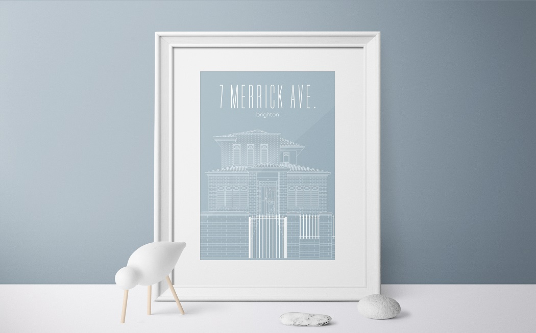 3000Lines Print, Print of your House, Limited Edition Prints, Personalised House Print, Valentine's Day Giveaway, The Frenchie Mummy
