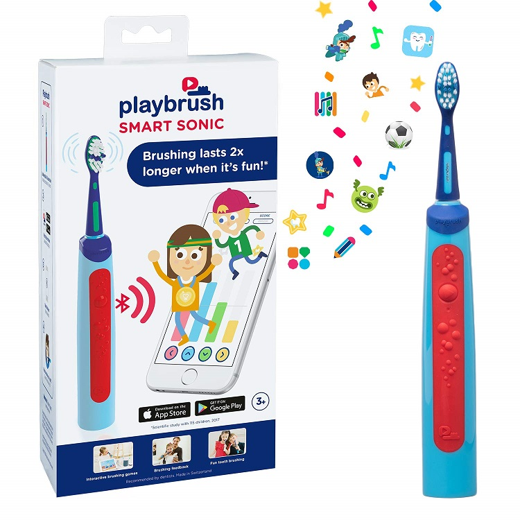 Playbrush Smart Sonic, Electric Toothbrush, Interactive Brushing App, Brush Your Teeth, Blog Anniversary Giveaway, Win, The Frenchie Mummy