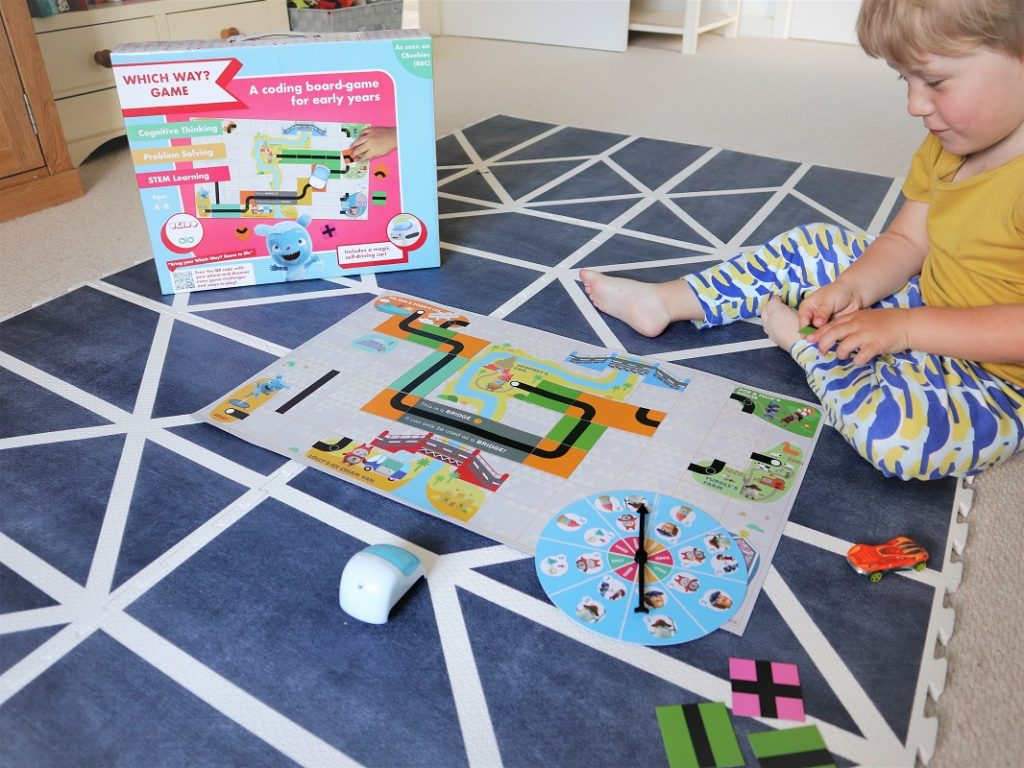 Which Way? Game , Coding Board Game, Messy Goes, OKIDO Magazine, Learn with Ojo, Coding School, Game Review, the Frenchie Mummy