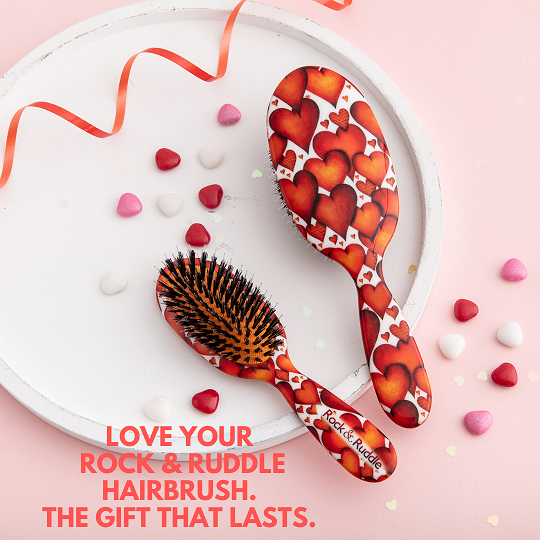 Rock & Ruddle Hearts Hairbrush, Rock & Ruddle, Natural Bristle, Hairbrush, Hair care, Win, Valentine's Day Giveaway, The Frenchie Mummy