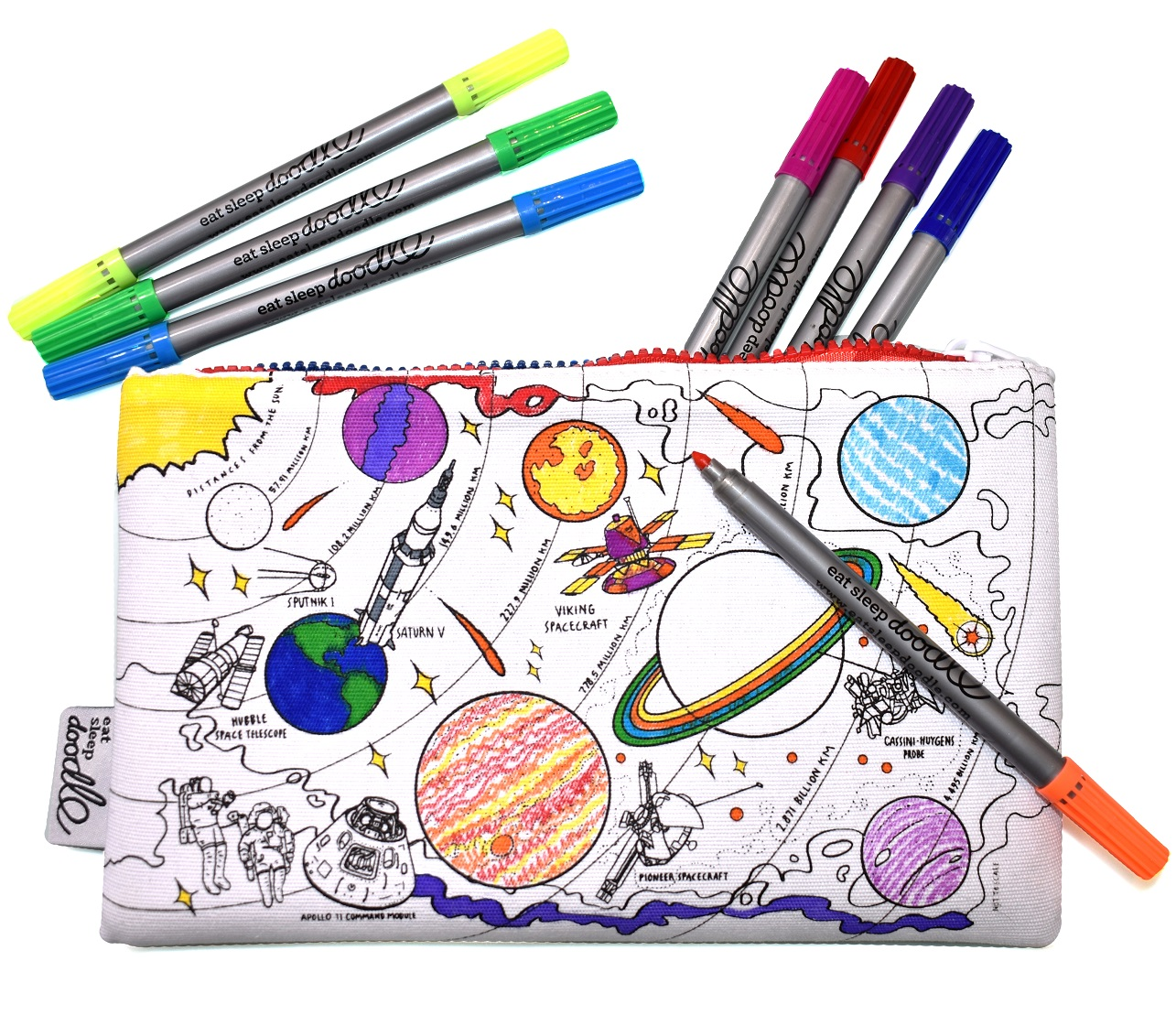 Eatsleepdoodle School Supplies, Eatsleepdoodle, Back to School, Giveaway, Win, Doodle Gifts, Create & Learn, Gift Shop, Doodle, Family Fun, the Frenchie Mummy, Pencil Case, Tote Bag