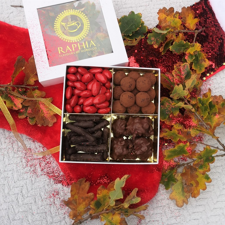 Raphia Chocolates, Raphia Chocolatier, Moroccan pastries, Moroccan sweets, Moroccan chocolates, Flavours Of Morocco, Four Treats Box, Win, Frenchie Christmas Giveaway, The Frenchie Mummy