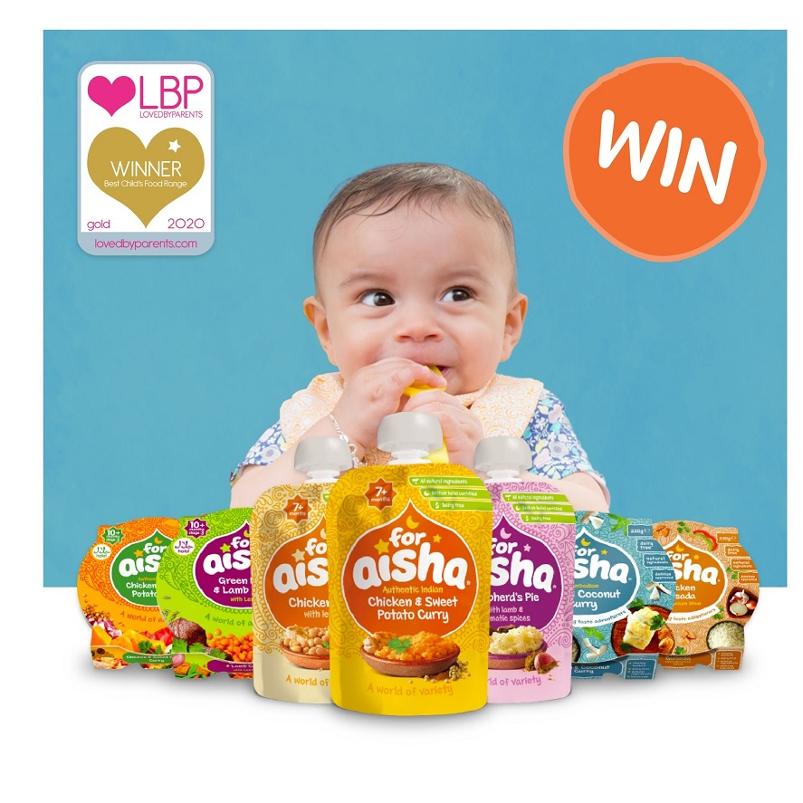 For Aisha Range, For Aisha Baby Food, Baby Pouches, Baby Trays, Weaning, Halal Baby Food, Natural Ingredients, Win, Christmas Giveaways, The Frenchie Mummy