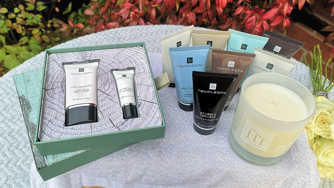 Temple Spa Collection, Temple Spa, Luxury Spa At Home, Cruelty-Free, Vegan Skincare, Award-winning Beauty Brand, Travel Set, Candle, Christmas Giveaway, Win, the Frenchie Mummy