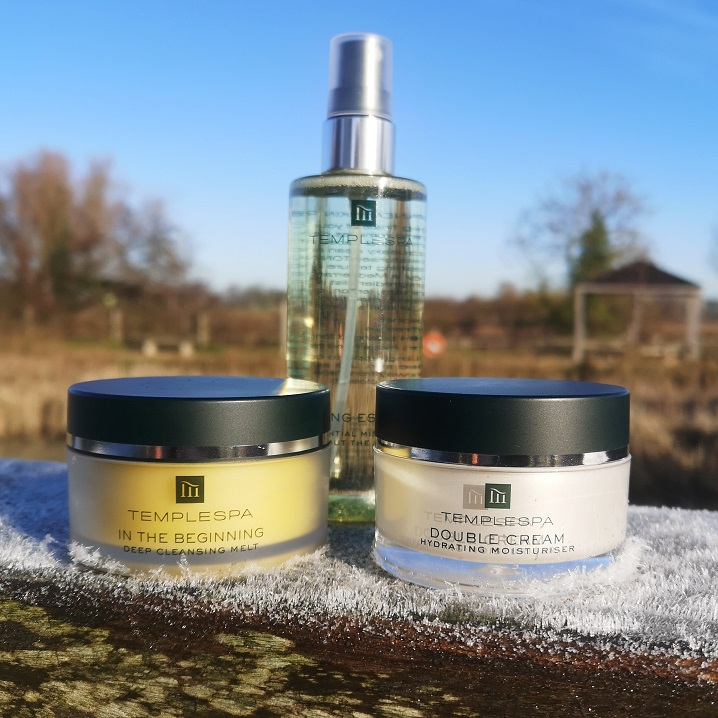 Temple Spa Dry Skin Essentials Set, Temple Spa, MY KINDA SKIN, Dry Skin, award winning luxury skincare, spa beauty, beauty, Valentine's Day Giveaway, Win, the Frenchie Mummy