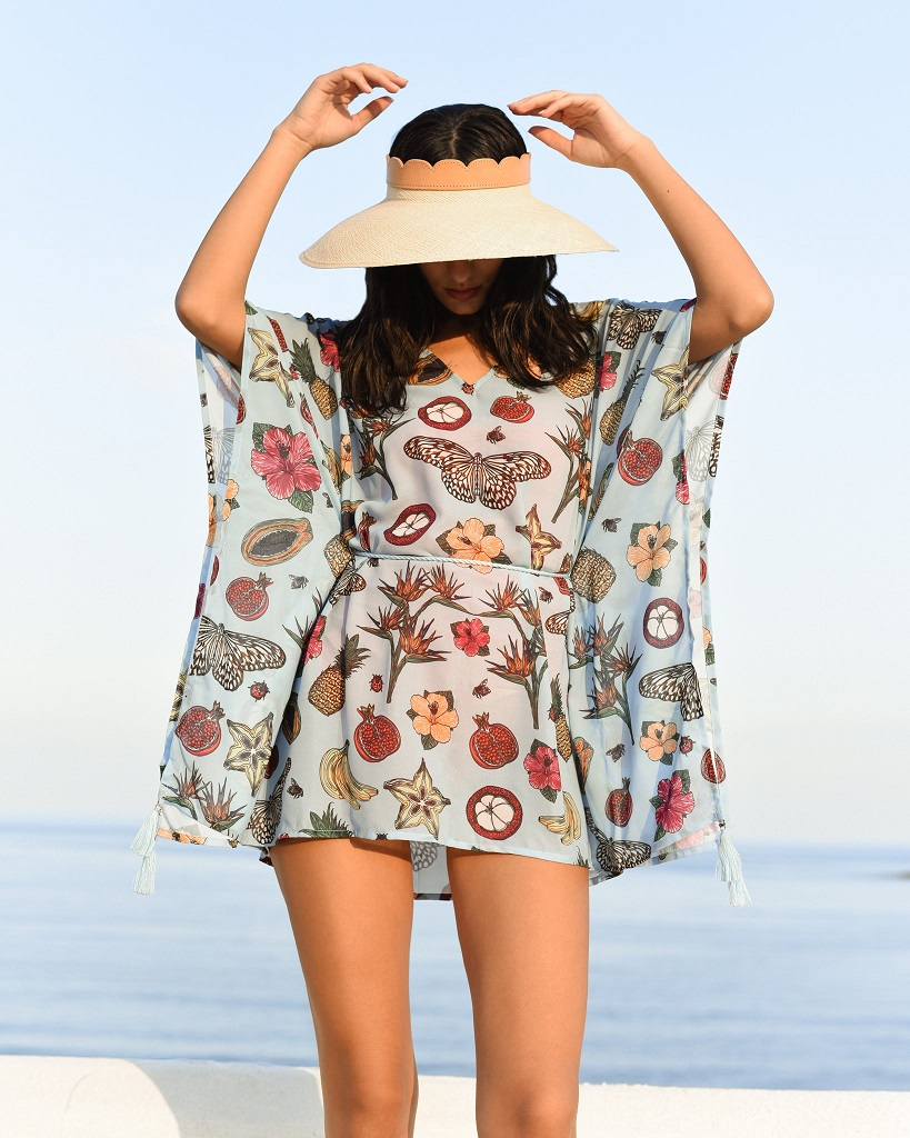 La Pêche Kaftan, La Pêche Swim, Luxury Swimwear, Kaftan, SS21, Luxury Resort & Swimwear, Valentine's Day Giveaway, Win, Competition, The Frenchie Mummy, Sustainable, Ethical Brand
