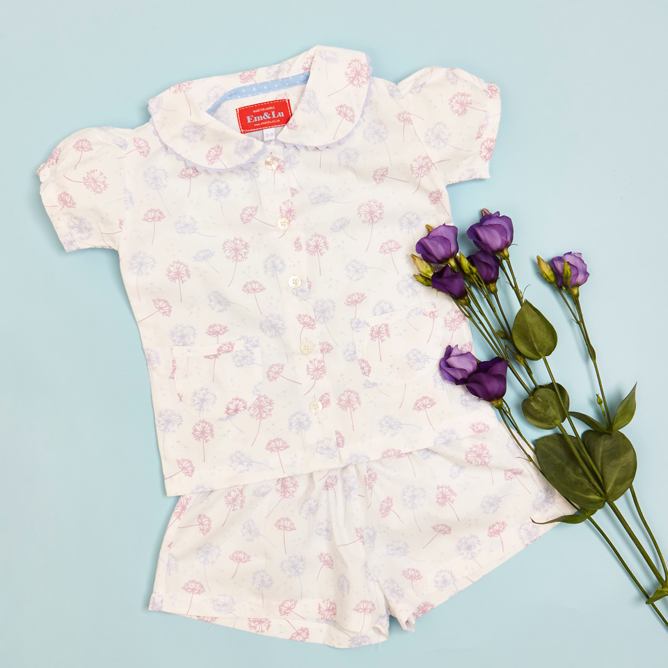 Em & Lu Spring Collection, English Prints, Children's Nightwear, Kids Pyjamas, Blog Anniversary Giveaways, 5th Anniversary, Made For Angels, win, Giveaway, the Frenchie Mummy, SS21, Kids Fashion, Nightwear & Accessories