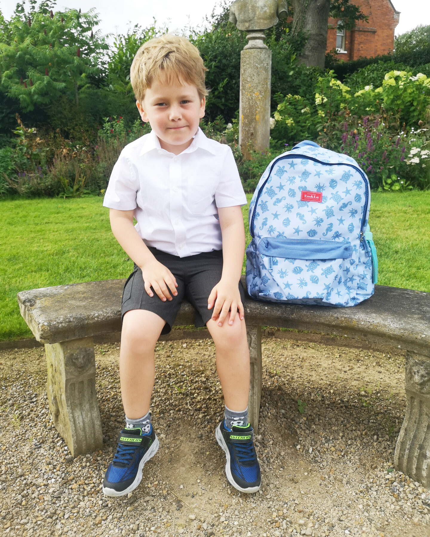 Back To School Em & Lu Sets, Back To School Essentials, Backpack, Em & Lu, English Prints, Vintages vibes, win, Giveaway, the Frenchie Mummy, competition, Ocean Print, Boys Backpack, Rucksack