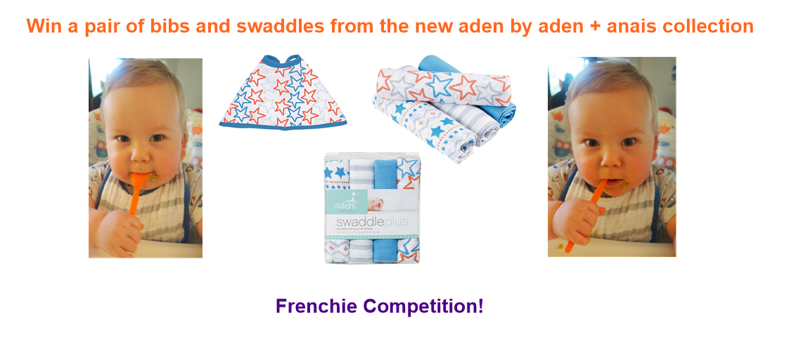 Win a pair of bibs and swaddles from the new aden by aden + anais collection