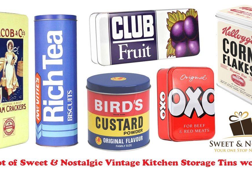 Sweet & Nostalgic Vintage Kitchen Storage Tins, retro tins, vintage tins, giveaway, the Frenchie Mummy