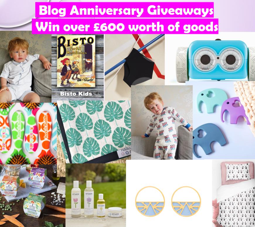 Blog Anniversary Giveaways, The Frenchie Mummy, Blog Anniversary, Win £600 worth of goods