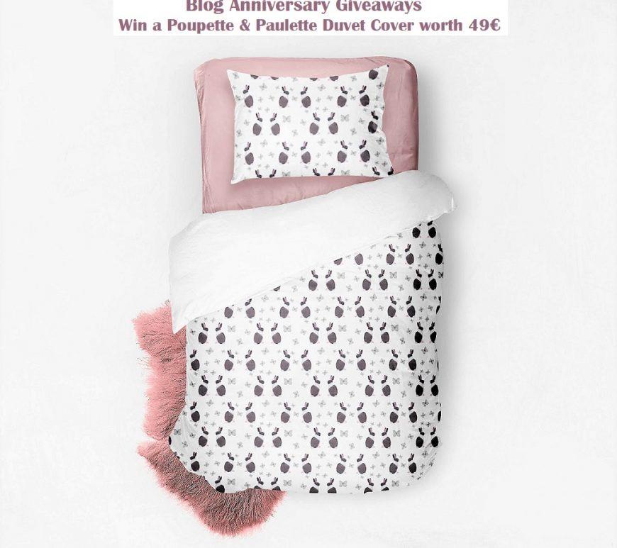 Win a Poupette & Paulette Duvet Cover, Belgian Brand, Kids' Bedroom Items, Unique Designs, Rabbit Print, Blog Anniversary, The Frenchie Mummy