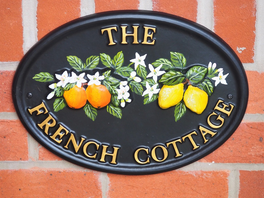Village Green House Sign Review, Decorating House, Cast & Hand-Painted, House Sign, The Frenchie Mummy