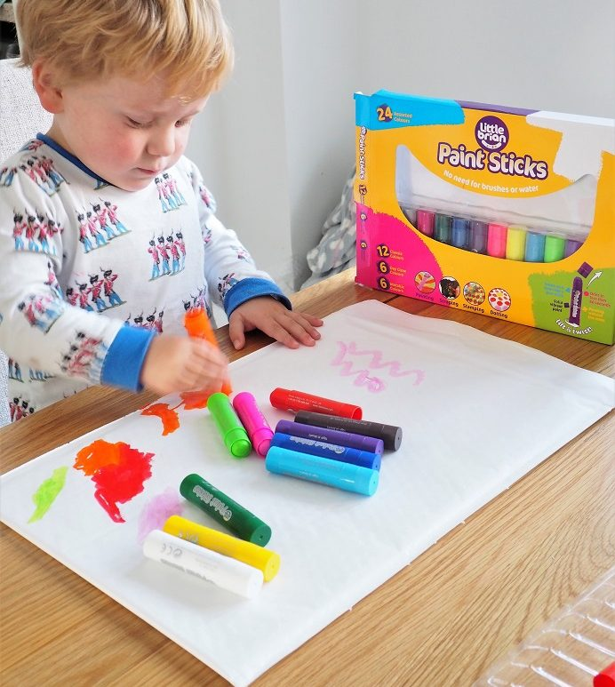 Little Brian Paint Sticks Review, Colours Paint Sticks, Paint Sticks Bumper Pack, Craft Supplies, the Frenchie Mummy, Giveaway