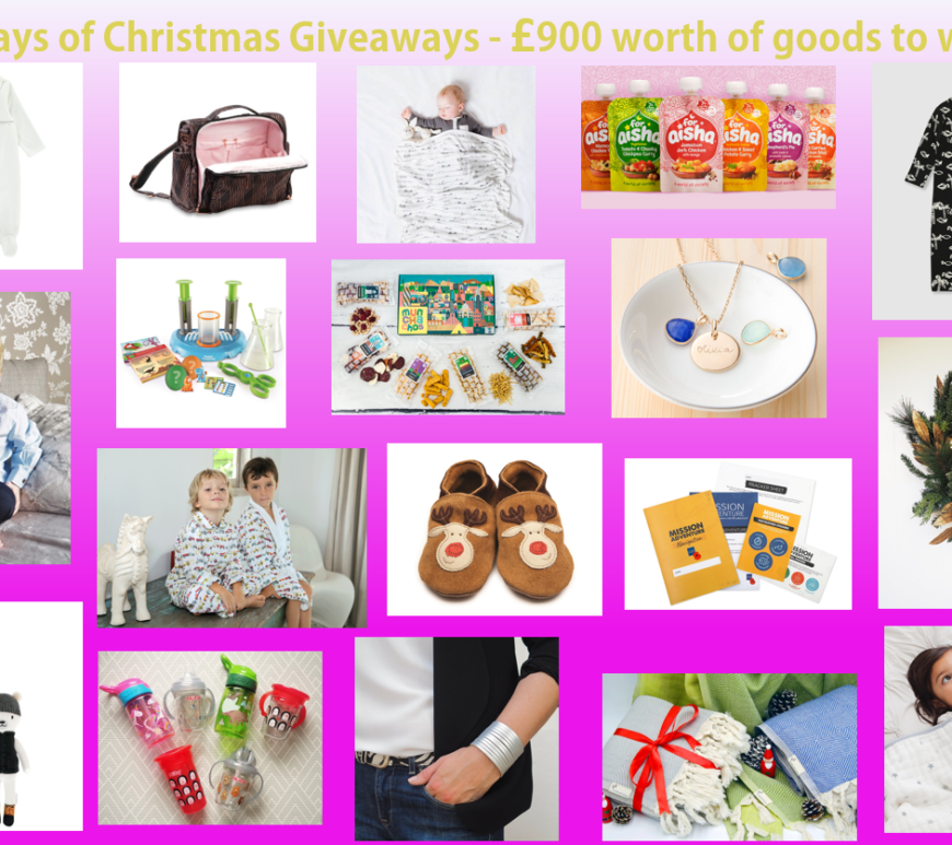 17 Days of Christmas Giveaways, Competitions, £900 worth of goods to win, The Frenchie Mummy